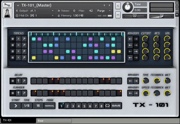 TX101 Sequencer for Kontakt