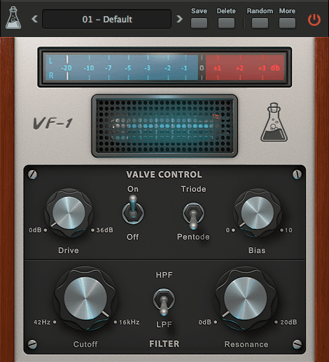 AudioThing Valve Filter VF1 GUI