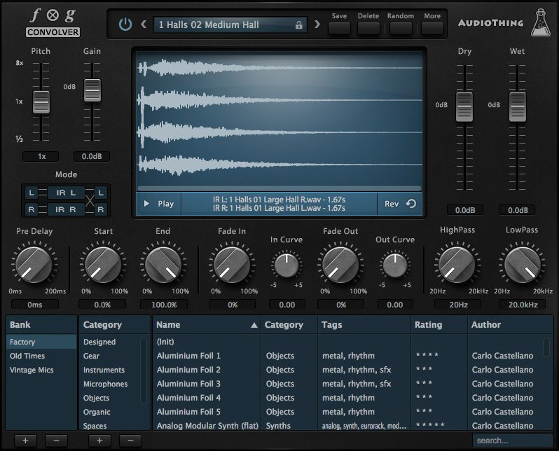AudioThing Fog Convolver - Convolution Processing Reverb Plugin (True Stereo) - VST, AU, AAX