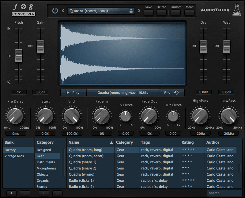 AudioThing Fog Convolver - Convolution Processing Reverb Plugin - VST, AU, AAX