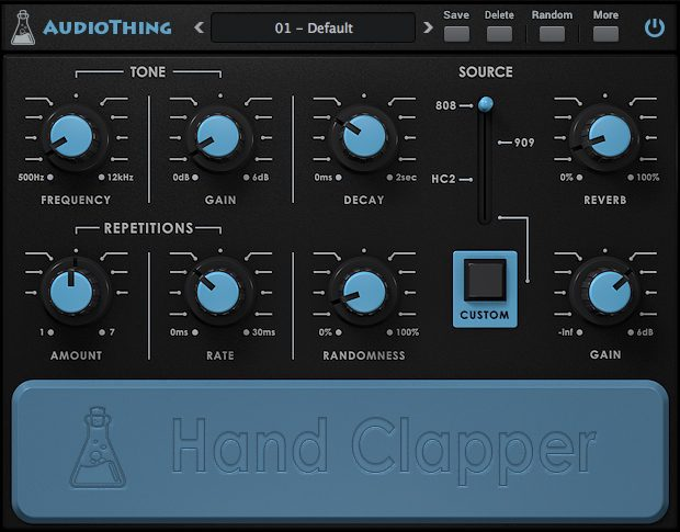AudioThing Hand Clapper GUI