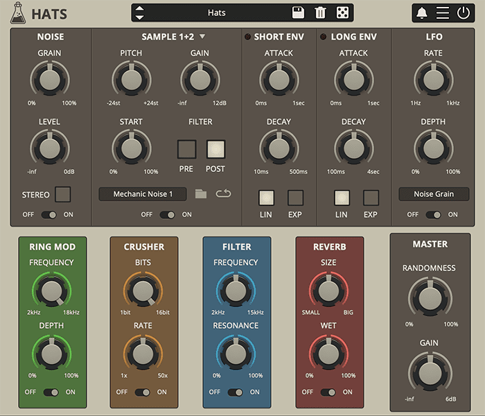 AudioThing Hats GUI Hi Hats and Cymbals Plugin VST/AU/AAX