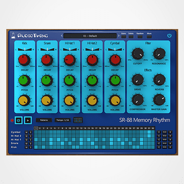 SR-88 Plugin Drum Machine