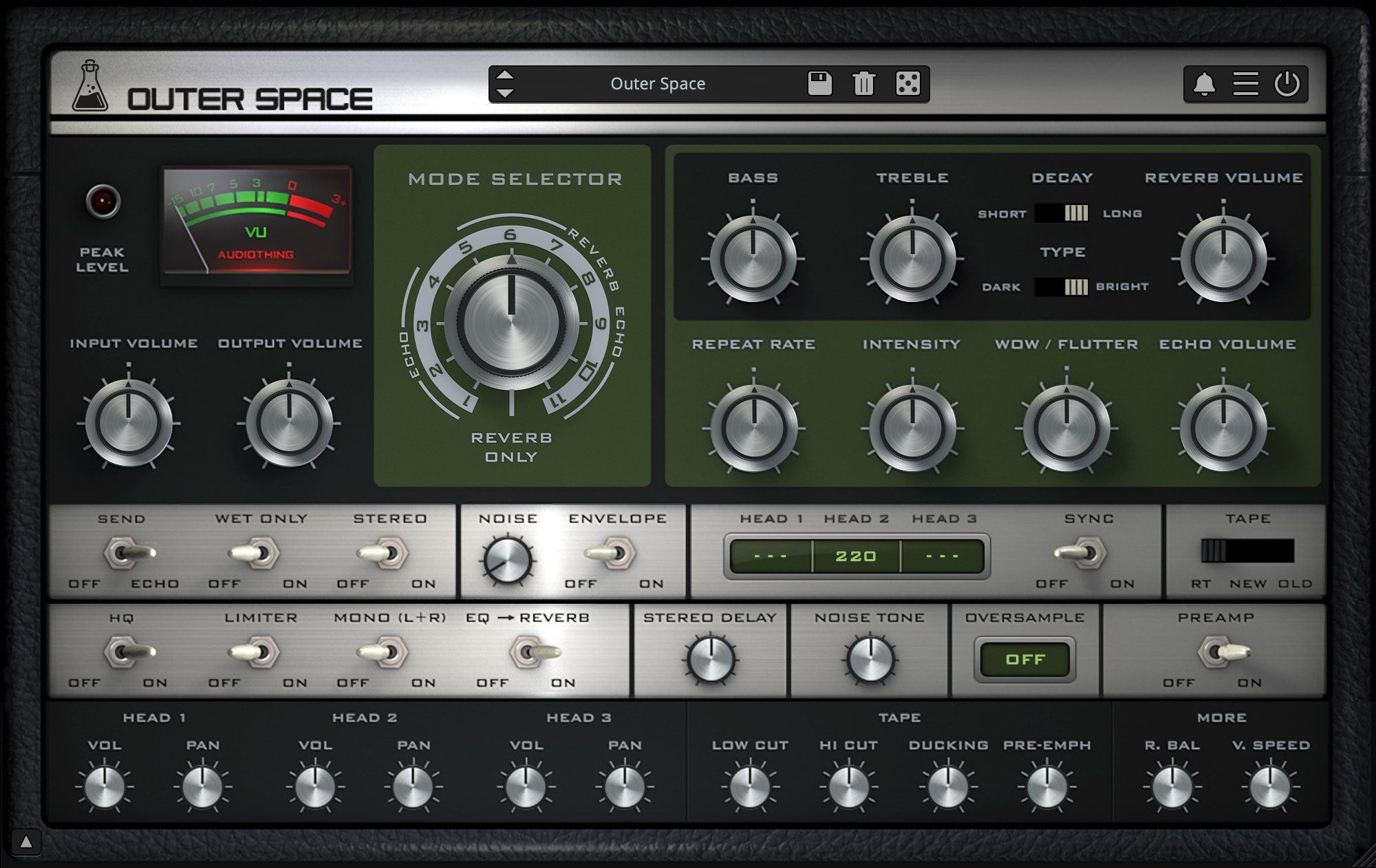 Outer Space Vintage Tape Echo Plugin Vst Au Aax