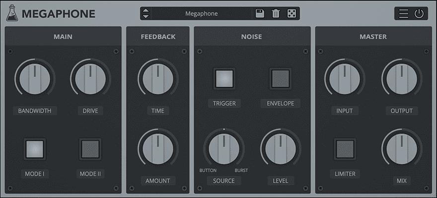 Megaphone - Bullhorn / Loudspeaker Simulation Plugin - GUI