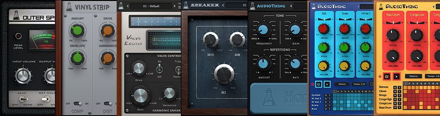 AudioThing Vintage Bundle: Outer Space, Speaker, Valve Filter, Valve Exciter, Hand Clapper, Latin Percussion, SR-88