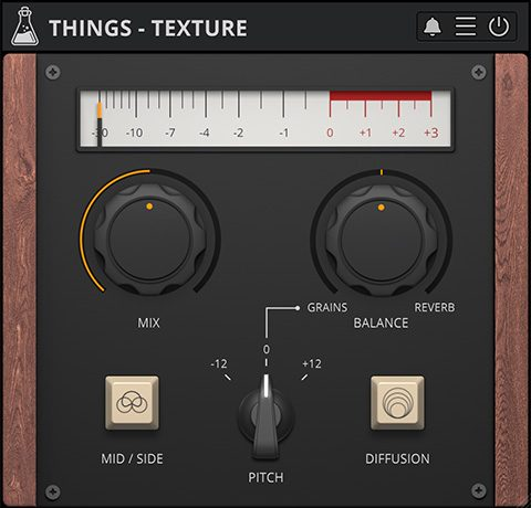 Things - Texture, Granular Reverb with Mid / Side mode - GUI