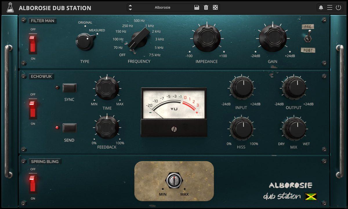 Alborosie Dub Station Plugin - Filter, Echo, Spring by Alborosie